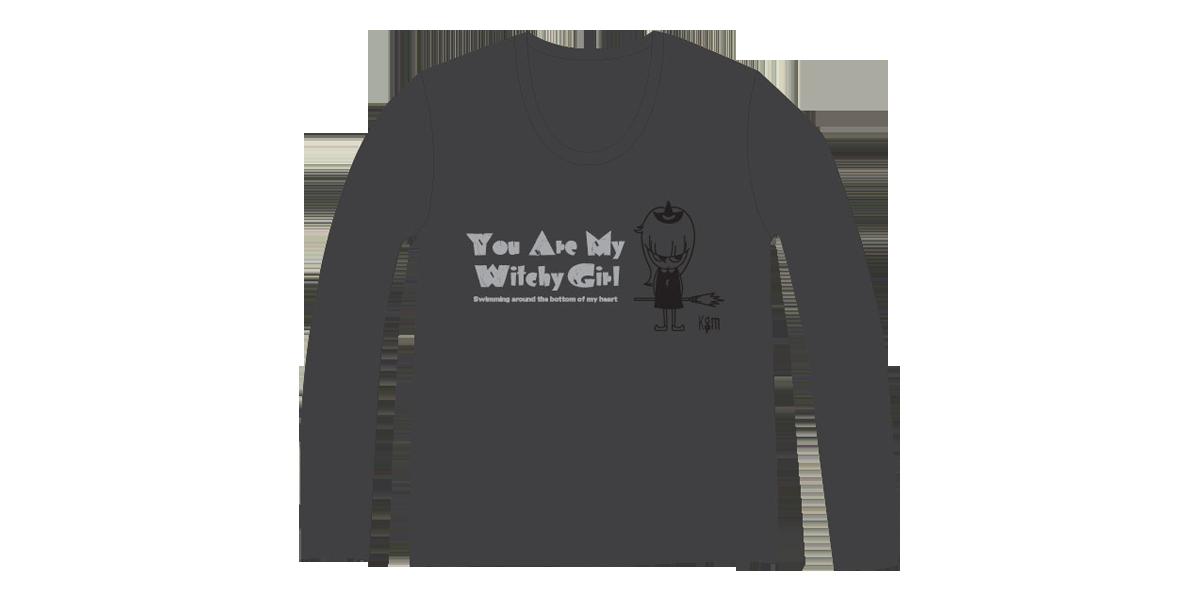 『Witchy Girl Uネック ロングTシャツ(Mのみ)』