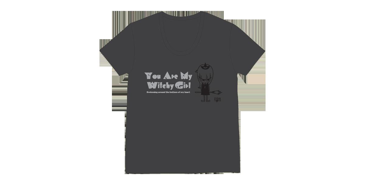 『Witchy Girl Uネック Tシャツ(XSのみ)』